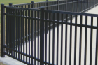 Steel and aluminum is the metal we use to get that wrought iron look for your ornamental fence. Metals are very durable and have little to know maintenance. They will last a very long time on your property.