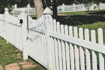 Vinyl is very durable and low maintenance. VInyl comes it many different colors and fence styles. Vinyl is great for privacy and security at your property, whether residential or commercial.